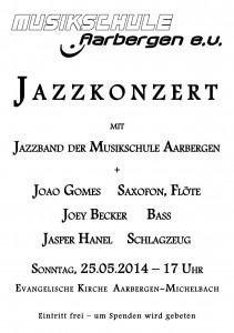 plakat jazzkonzert A4